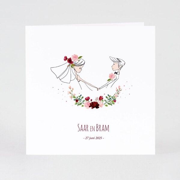 leuke-trouwkaart-bruidspaar-en-bloemenkrans-TA0110-1900055-03-1