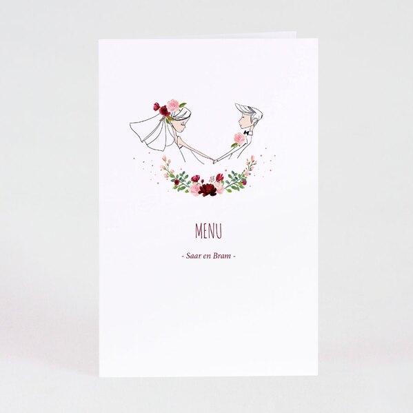 dubbele-menukaart-bruidpaar-en-bloemenkrans-TA0120-1900019-03-1