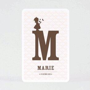 geboortekaart-letter-en-silhouet-meisje-TA05500-1600013-03-1