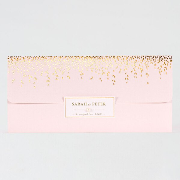 roze-pochette-trouwuitnodiging-met-gouden-blaadjes-buromac-118069-TA118-069-03-1
