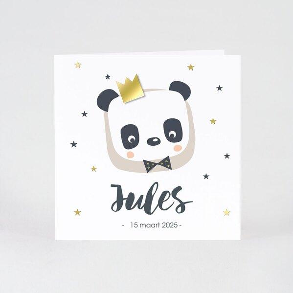 geboortekaartje-panda-met-opplakmotiefje-gouden-kroon-buromac-507008-TA507-008-03-1