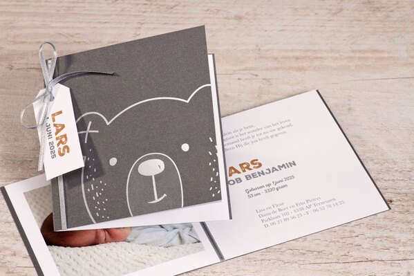 antraciet-geboortekaartje-met-beer-in-zilver-buromac-589060-TA589-060-03-1