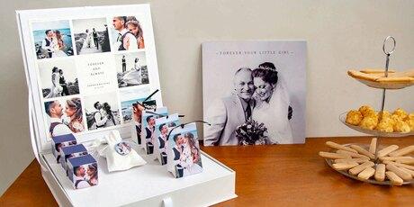 Presentatie bedankjes huwelijk